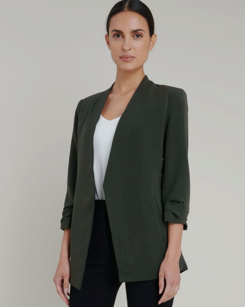 Carter Collarless Blazer
