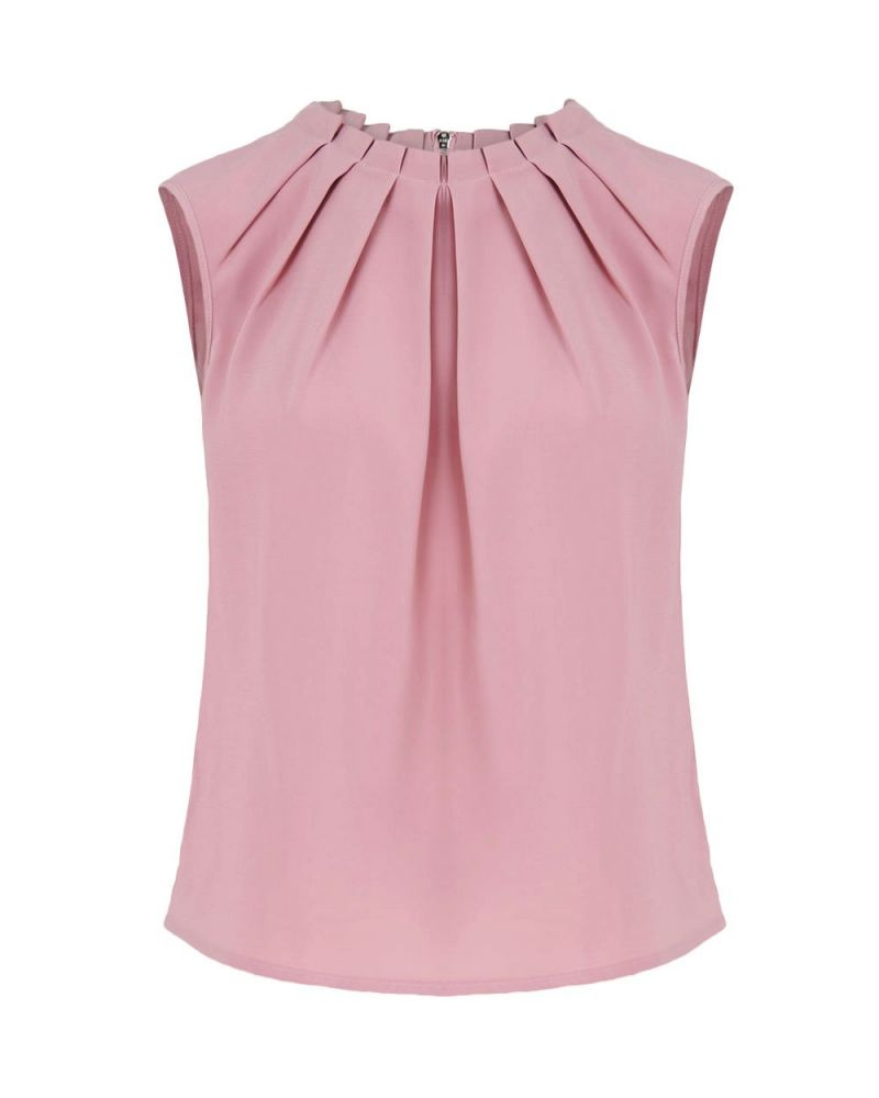 Kensington Pleat Neck Top