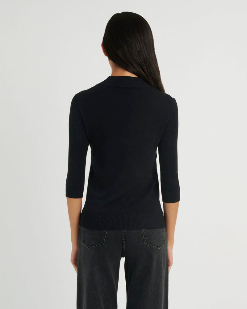 Angeline Mock Neck Knit