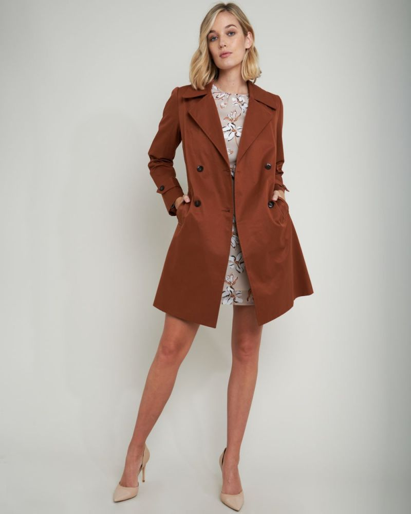 Maliah Double-Breasted Trench Coat