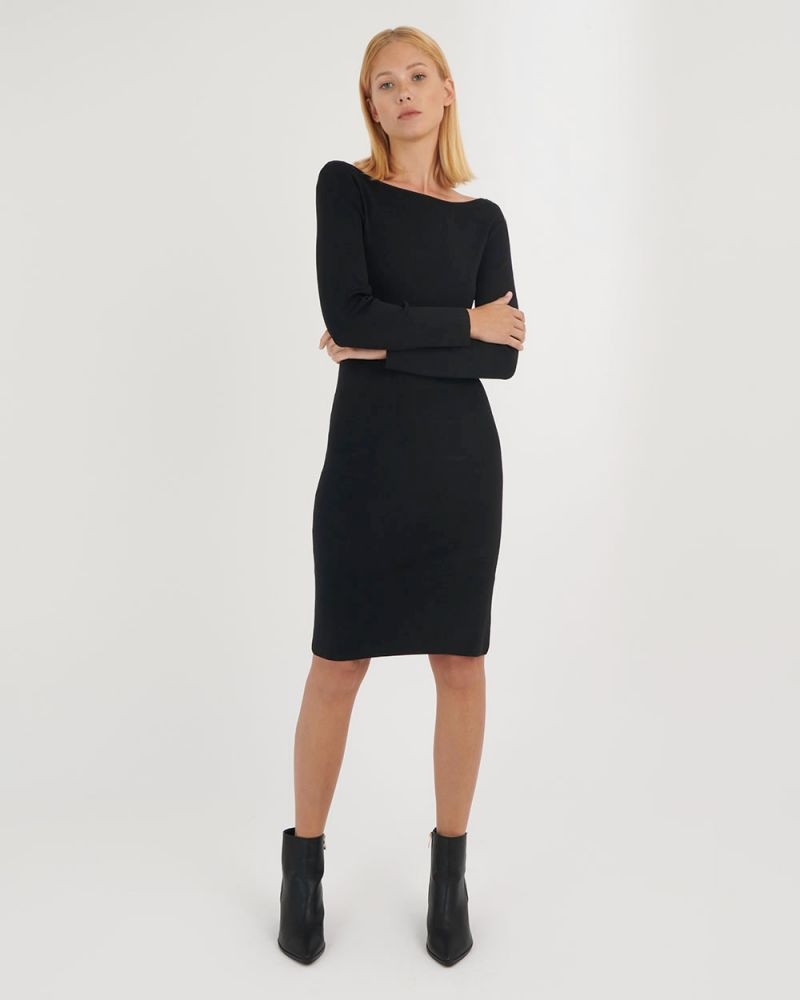 Knightly Scoop Back Knit Dress