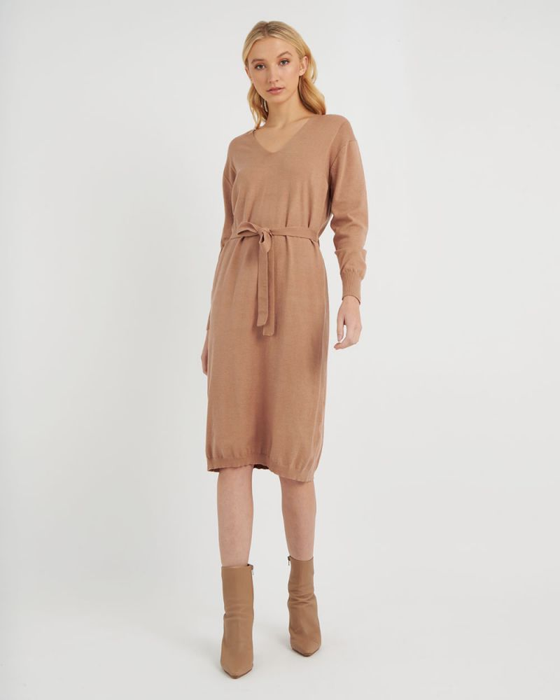 Francesca Tie Waist Knit Dress