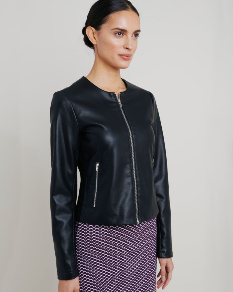Sarah Faux Leather Jacket
