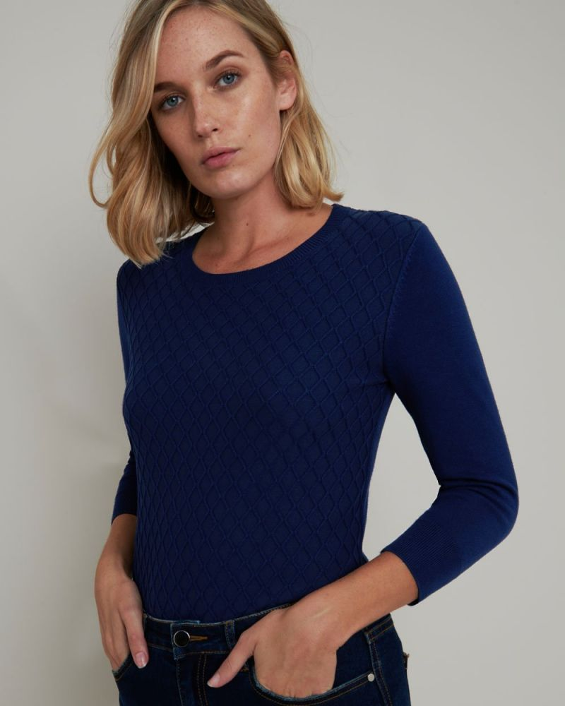 Dylan Diamond Knitted Top