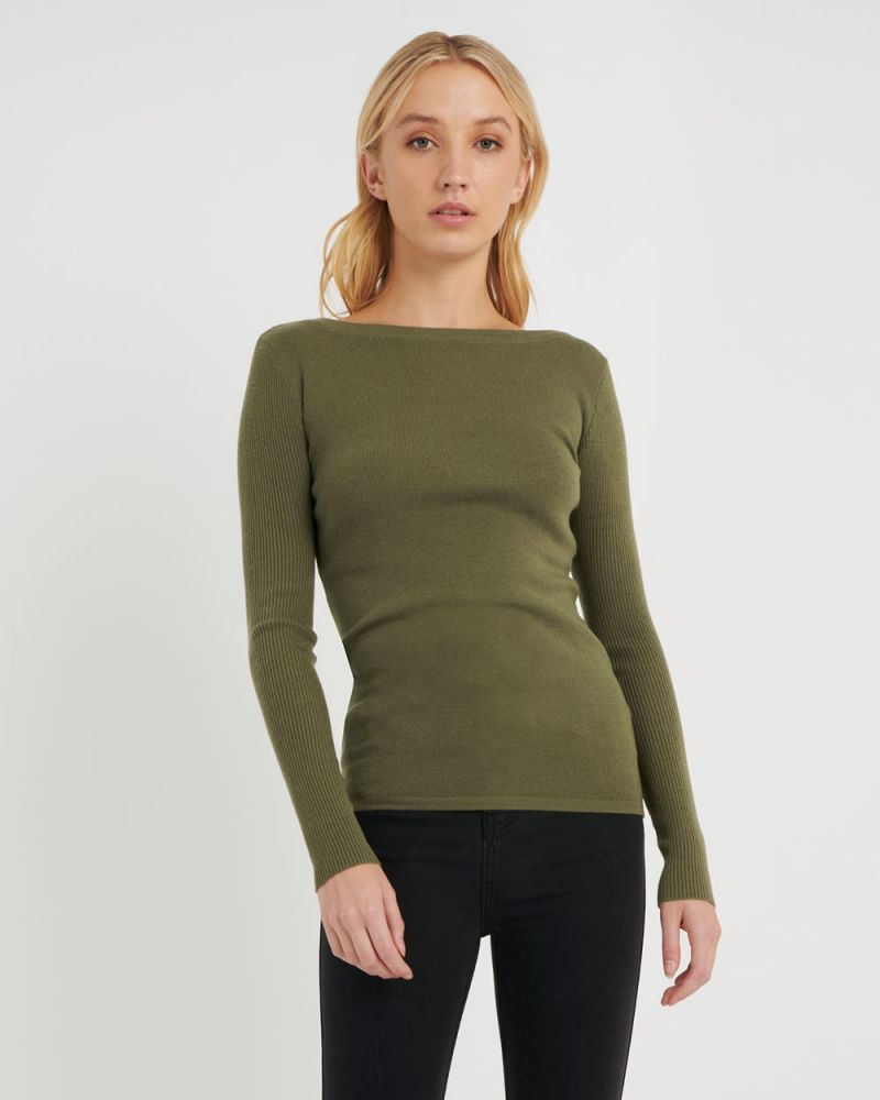 Stacey Boat Neck Knit