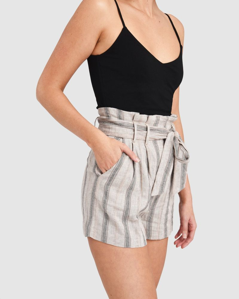 Molly Stripe Linen Shorts