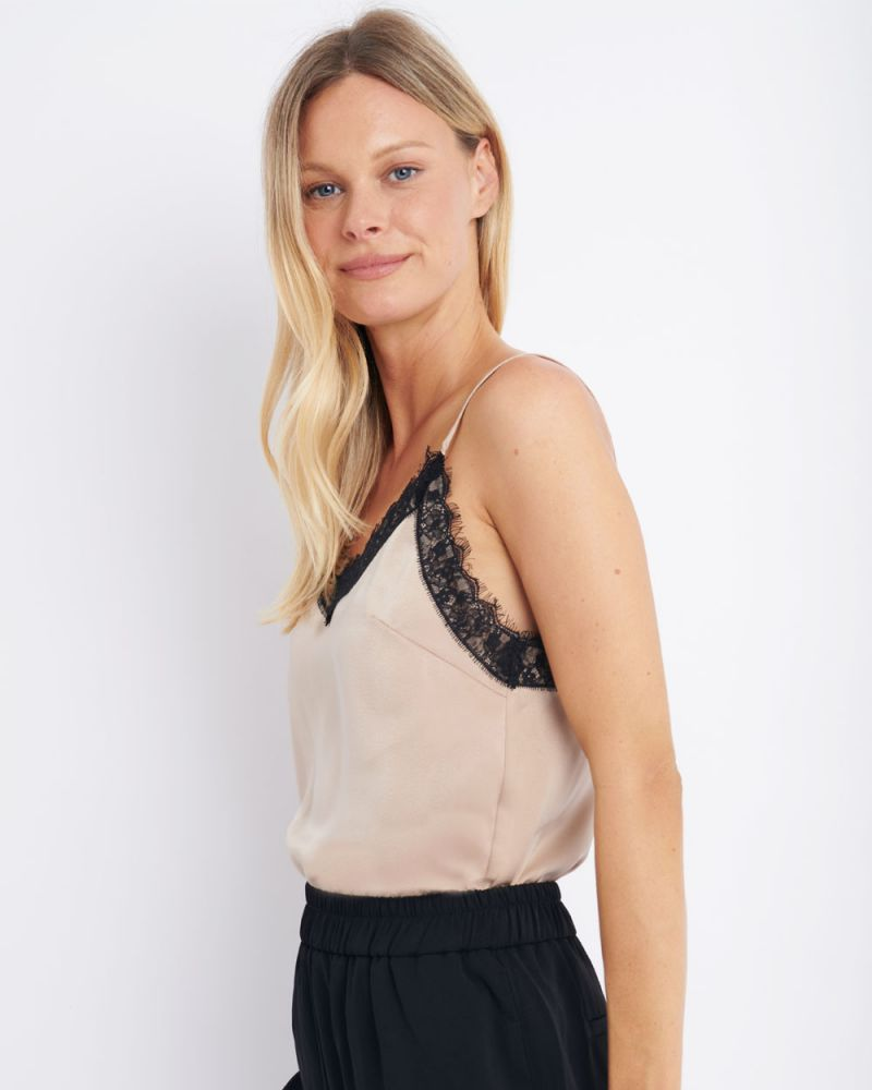 Sky Lace Trim Cami