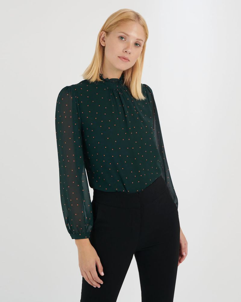 Addyson High Neck Blouse