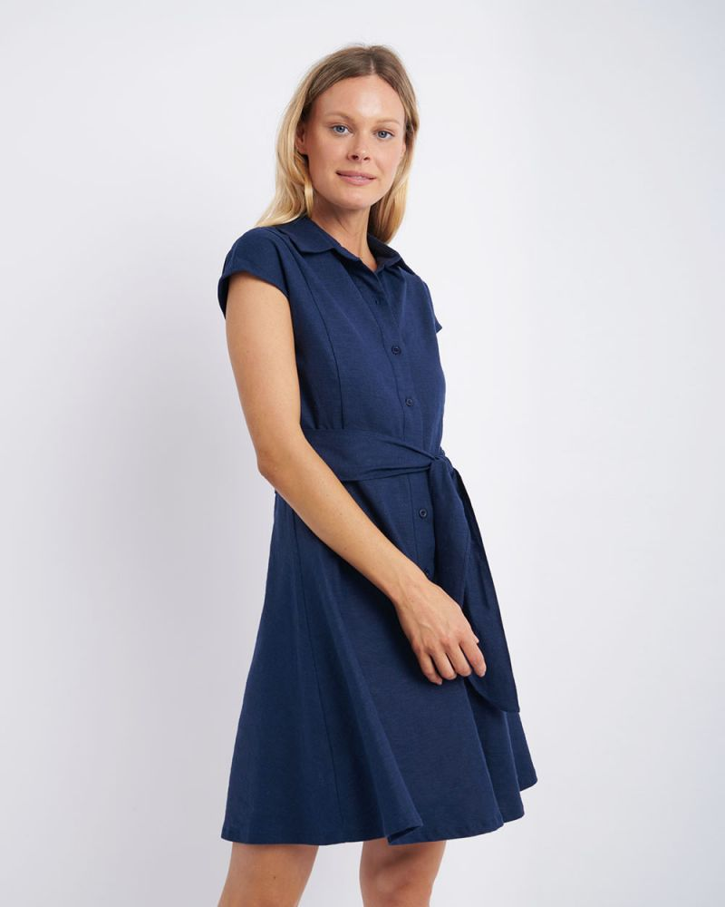 Giana Linen Shirt Dress