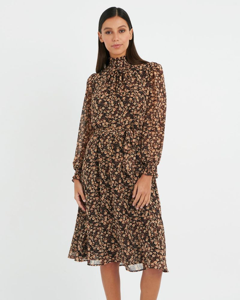 Connie Floral Printed Dress