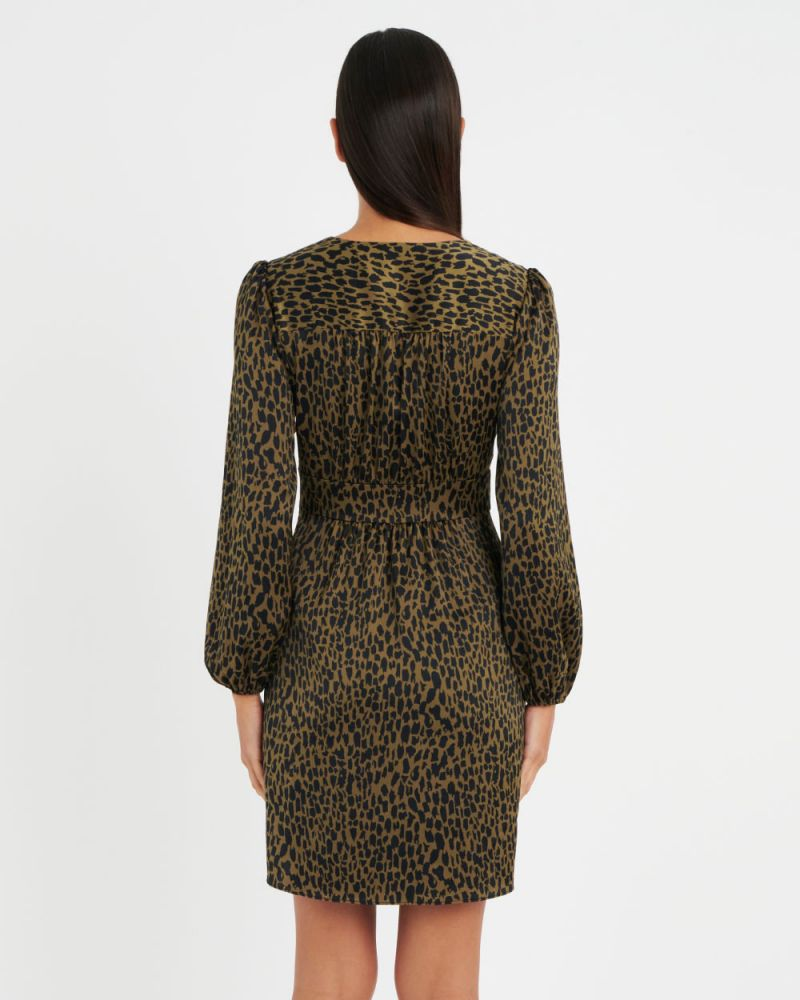 Marion Printed Crossover Dress