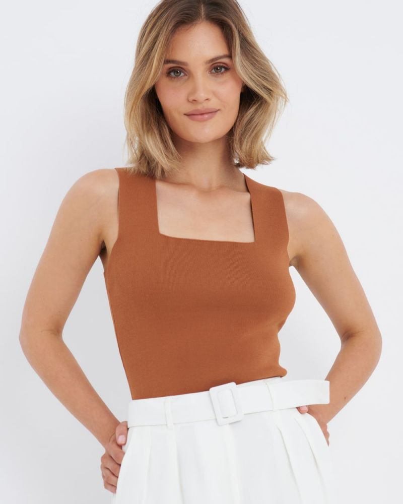 Khloe Square Neck Knit Top