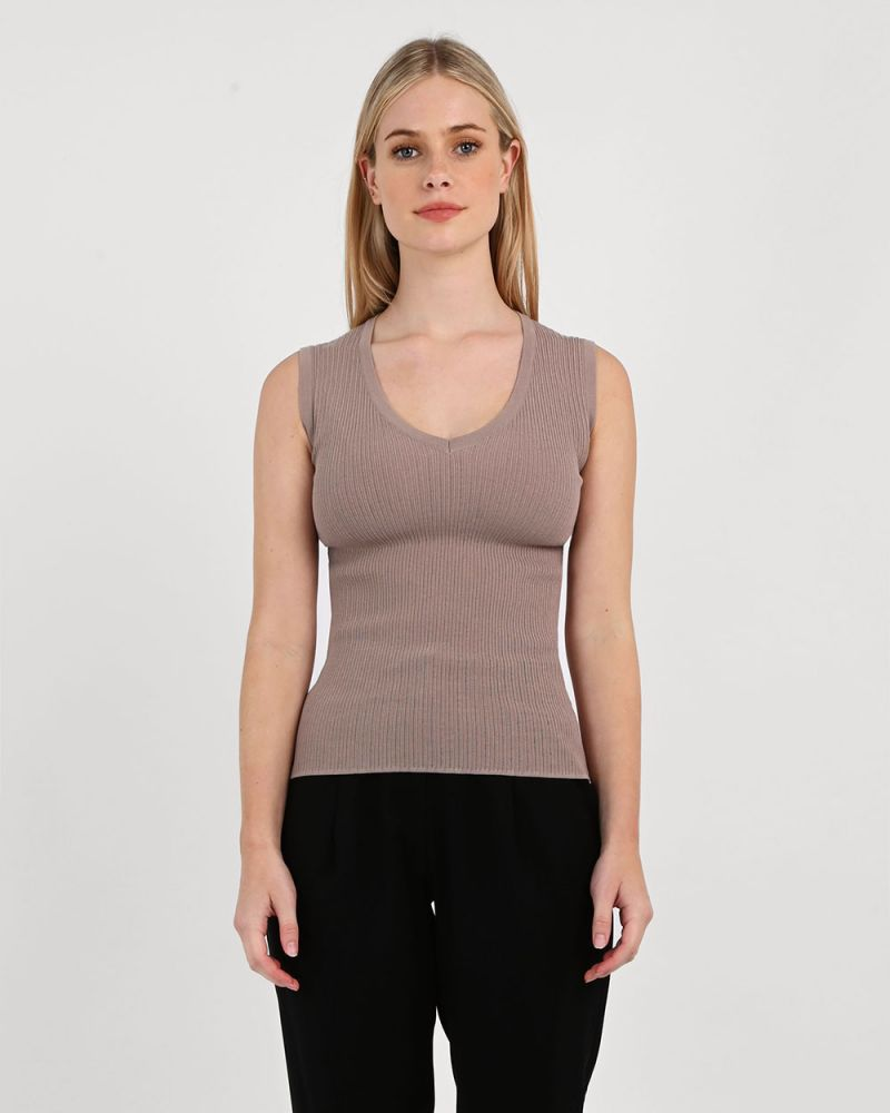 Libby V-Neck Knit Top