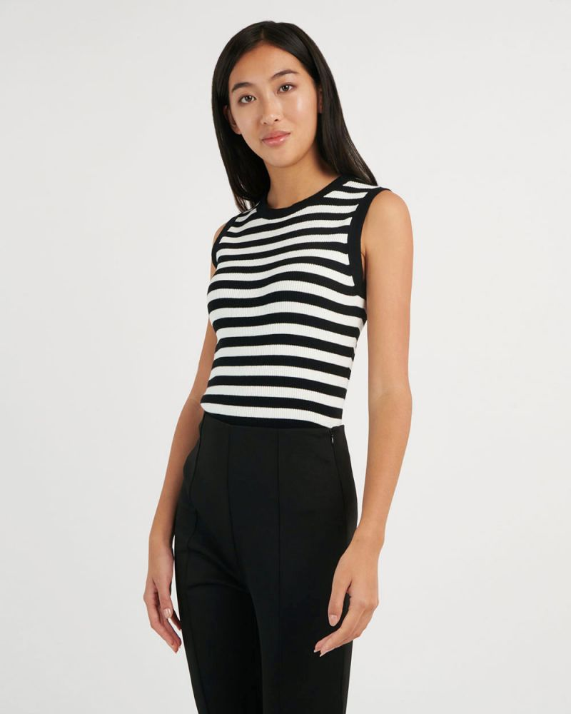 Gladys Pinstripe Knit Top
