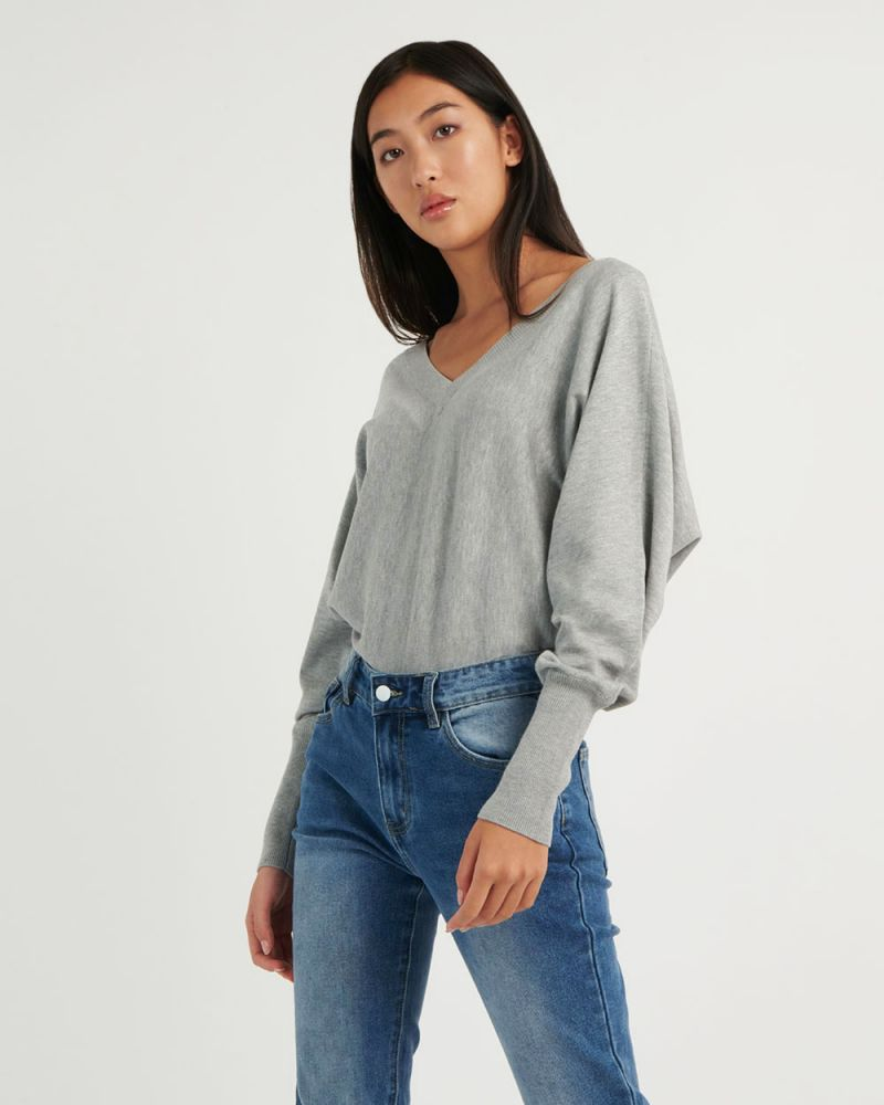 Jazlene V-Neck Knit Top