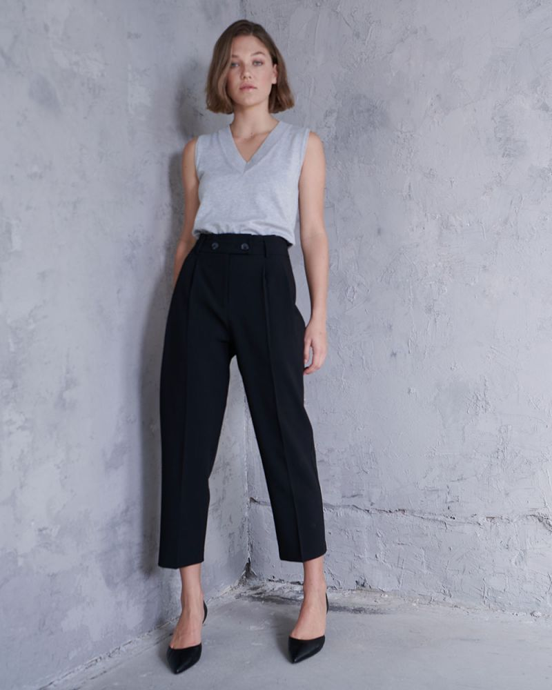 Roya High-Waisted Tapered Pants