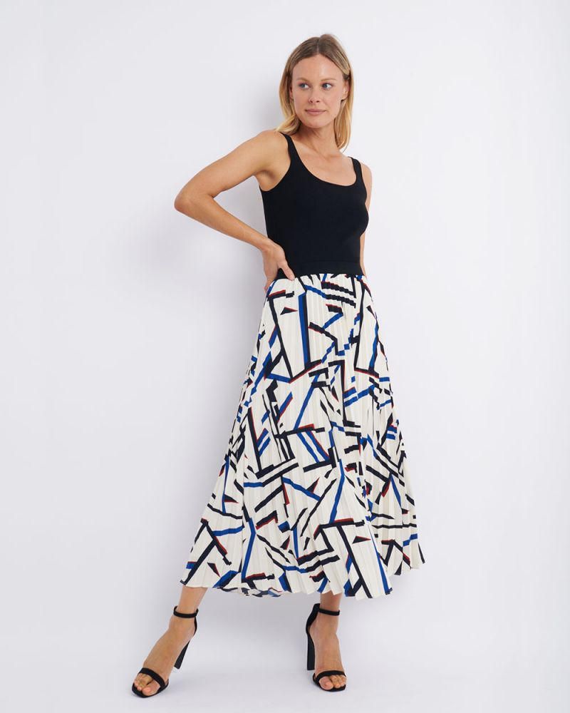 Hazel Pleat Maxi Skirt