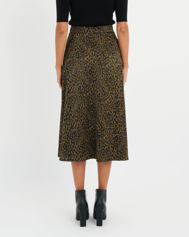 Marion Printed A-Line Skirt