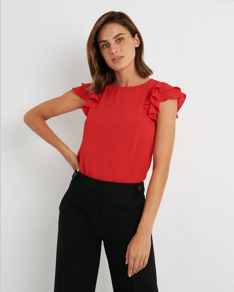 Liz Ruffle Sleeve Top