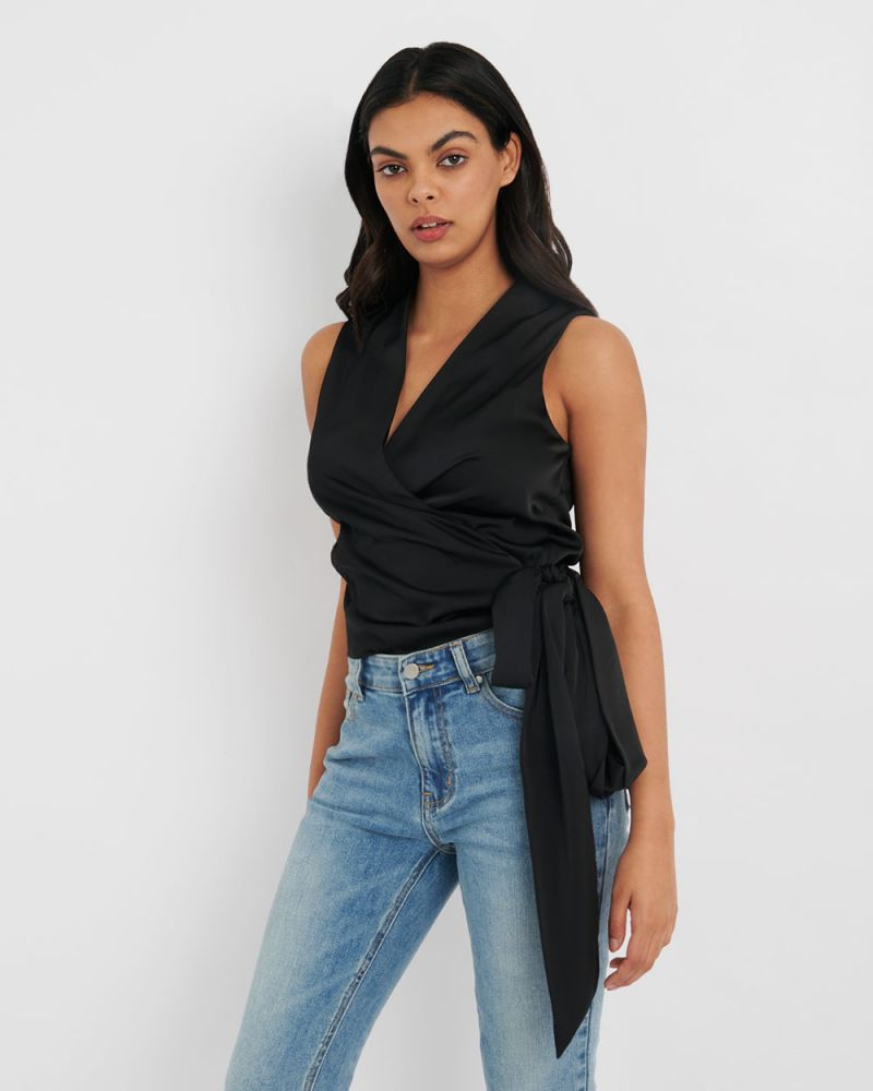 Jaclyn Wrap Blouse