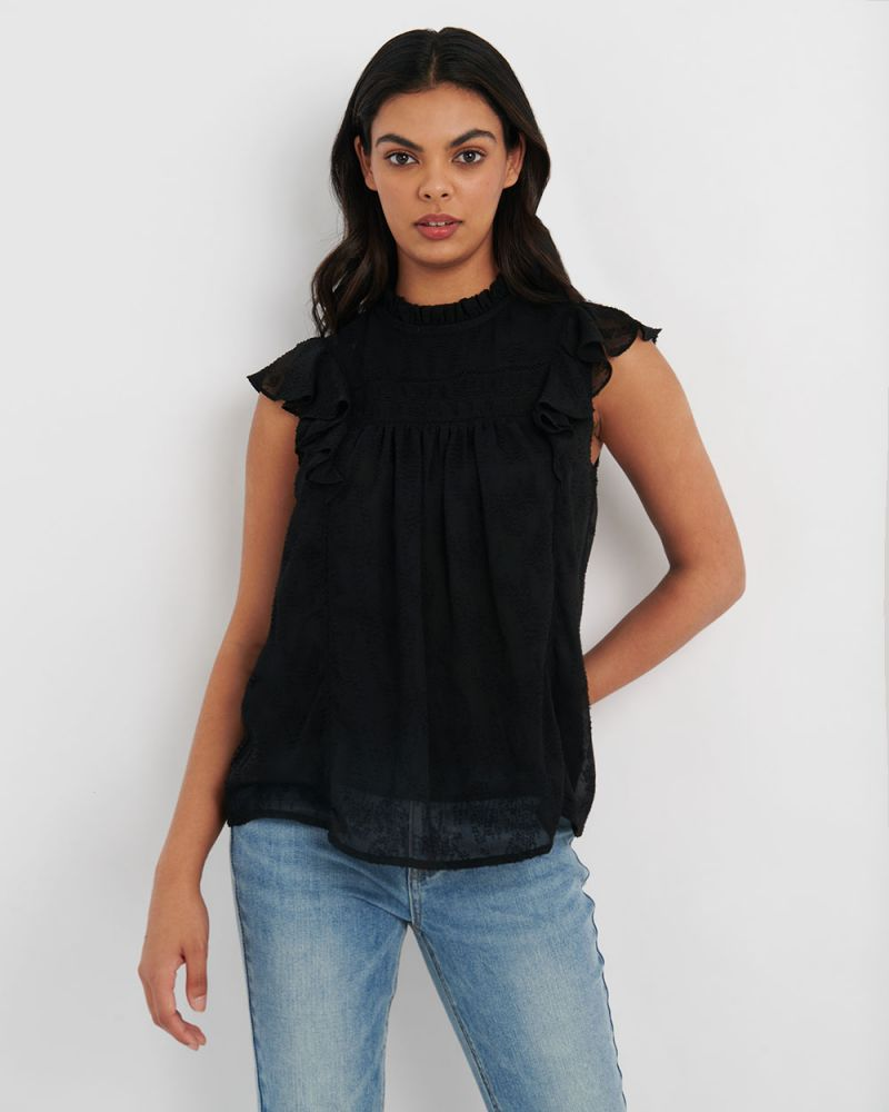 Dina Crotchet Trim Top