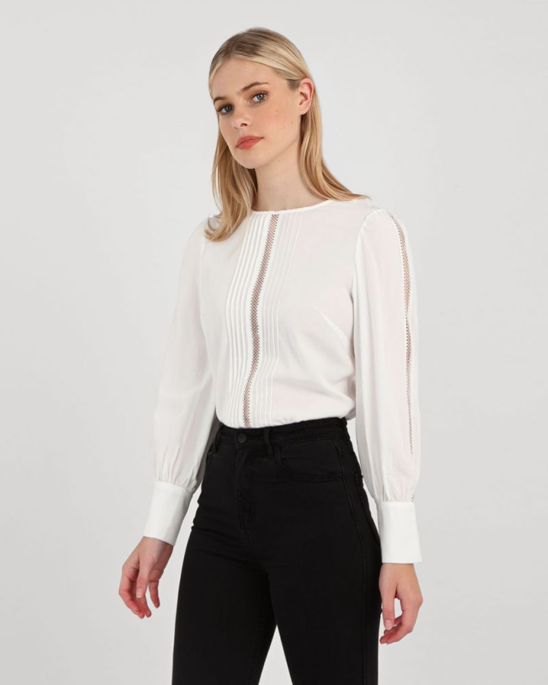 Tania Crochet Trim Blouse