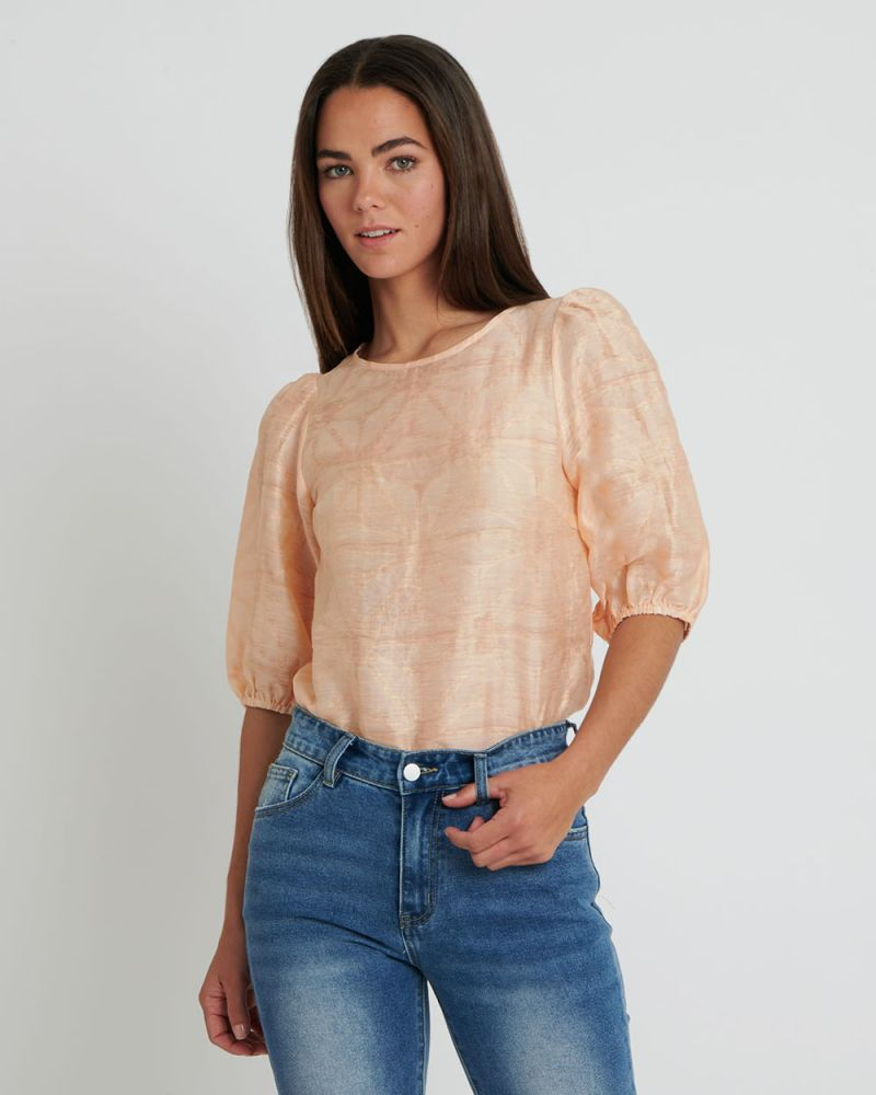 Audree Puffy Sleeve Top
