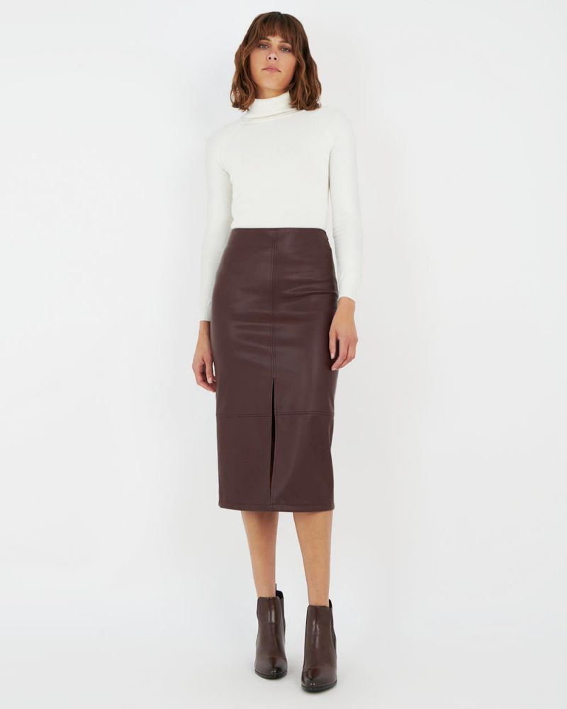 Luciana Faux Leather Skirt