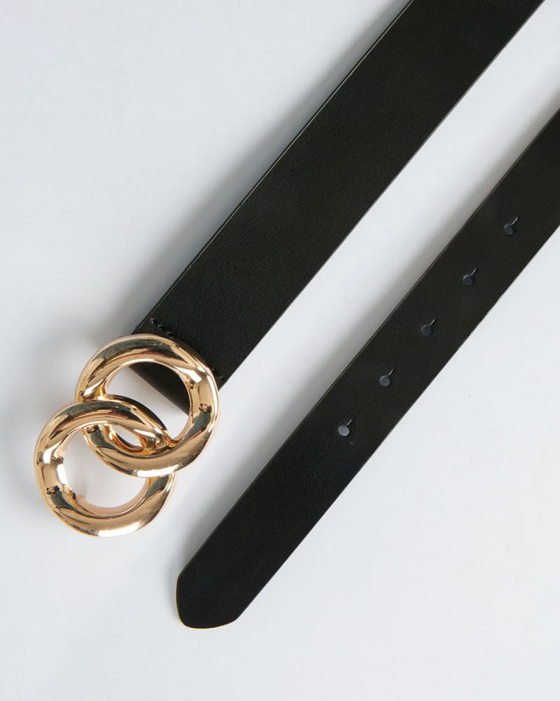 MABEL LEATHER DOUBLE RING BELT