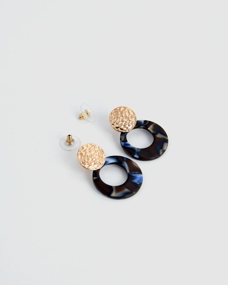 Lima Round Earrings