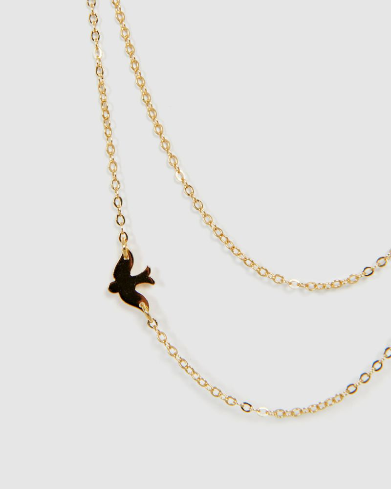 QUINN 16K GOLD PLATED NECKLACE