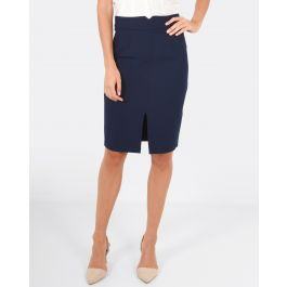 Brooklyn Pencil Skirt - Navy | Tuggl