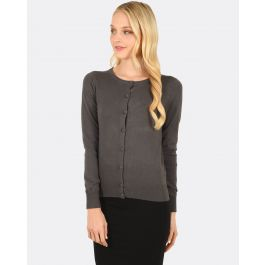 Becca Knitted Cardigan- Charcoal | Tuggl