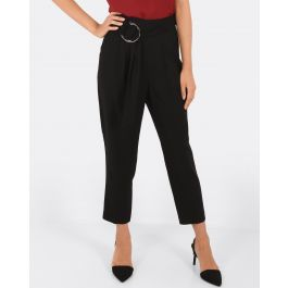 Sandra Belted Trousers - Black | Tuggl
