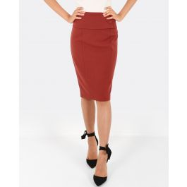 Carina Belted Skirt - Rust | Tuggl