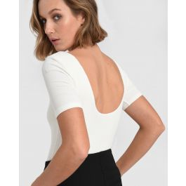 Gia Short Sleeve Knit Bodysuit by Forcast