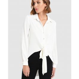 Celestial Tie Front Blouse by Forcast