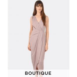 Phoebe Draped Formal Dress | Tuggl