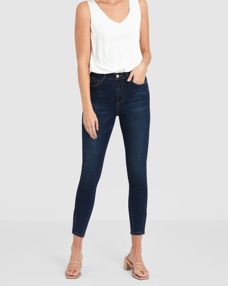 Virginia High Rise Zip Jeans