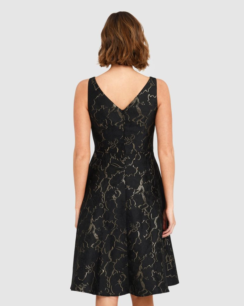 Caitlin Jacquard Dress