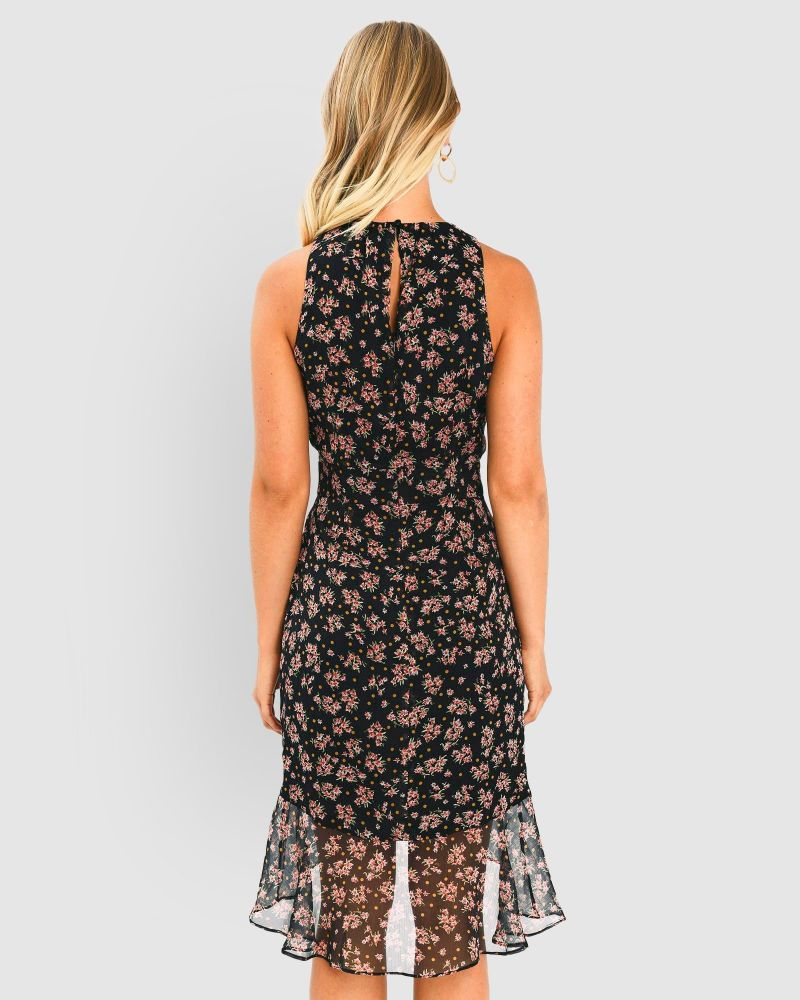 Gwendolyn Floral Ruffle Dress