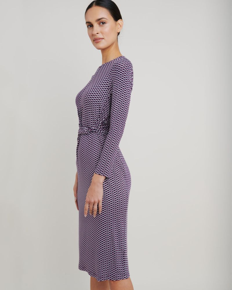 Linda Side Knot Jersey Dress