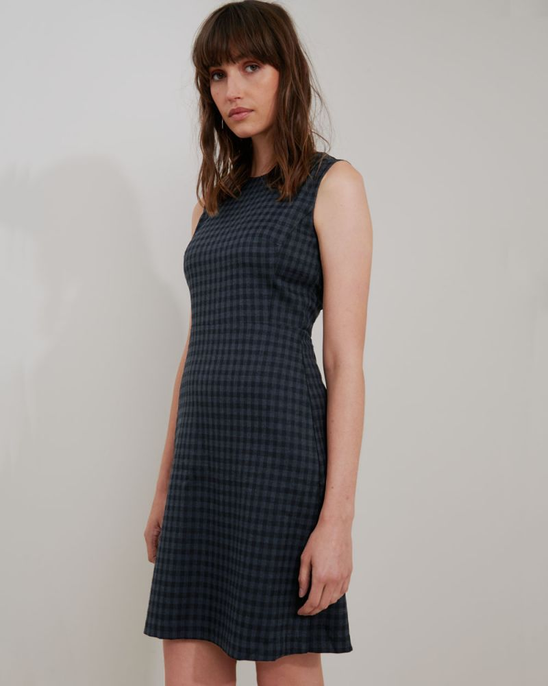 Halle Plaid Sleeveless Shift Dress