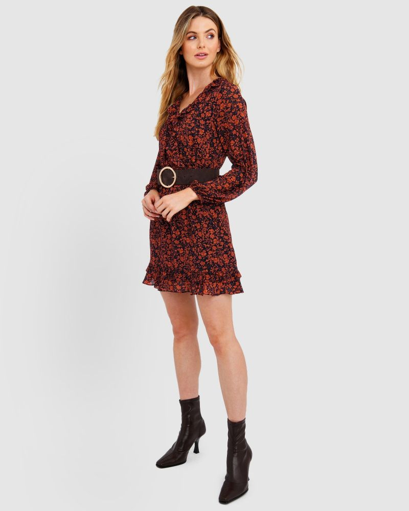 Camila Long Sleeve Ruffle Dress