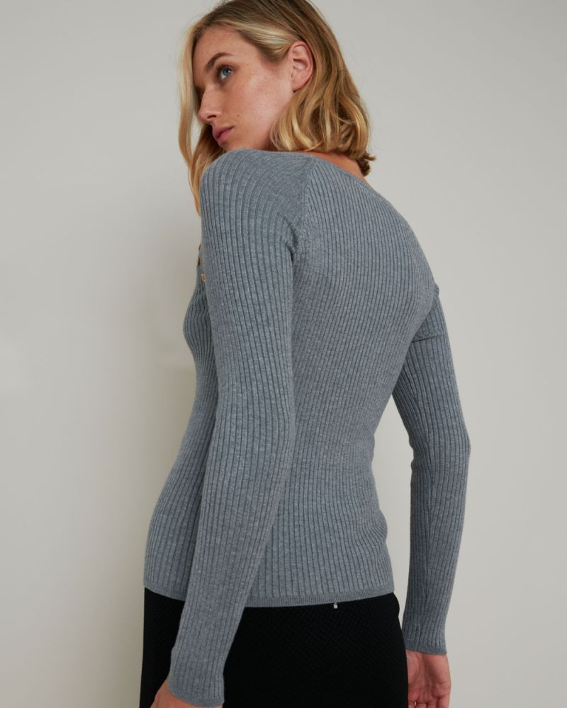 Anabelle Buttoned Knit