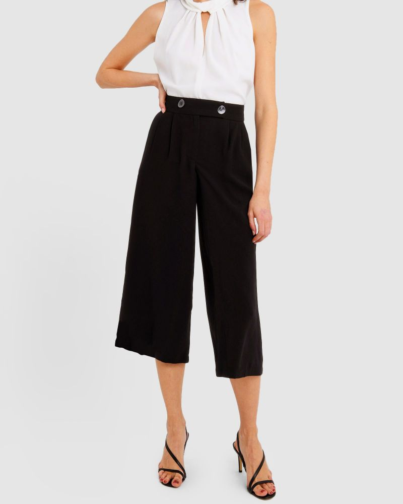 Liberty Button Detail Culottes