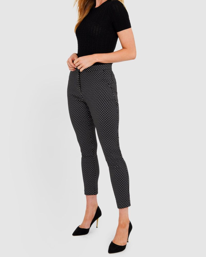 Raven Polkadot Stretch Pants