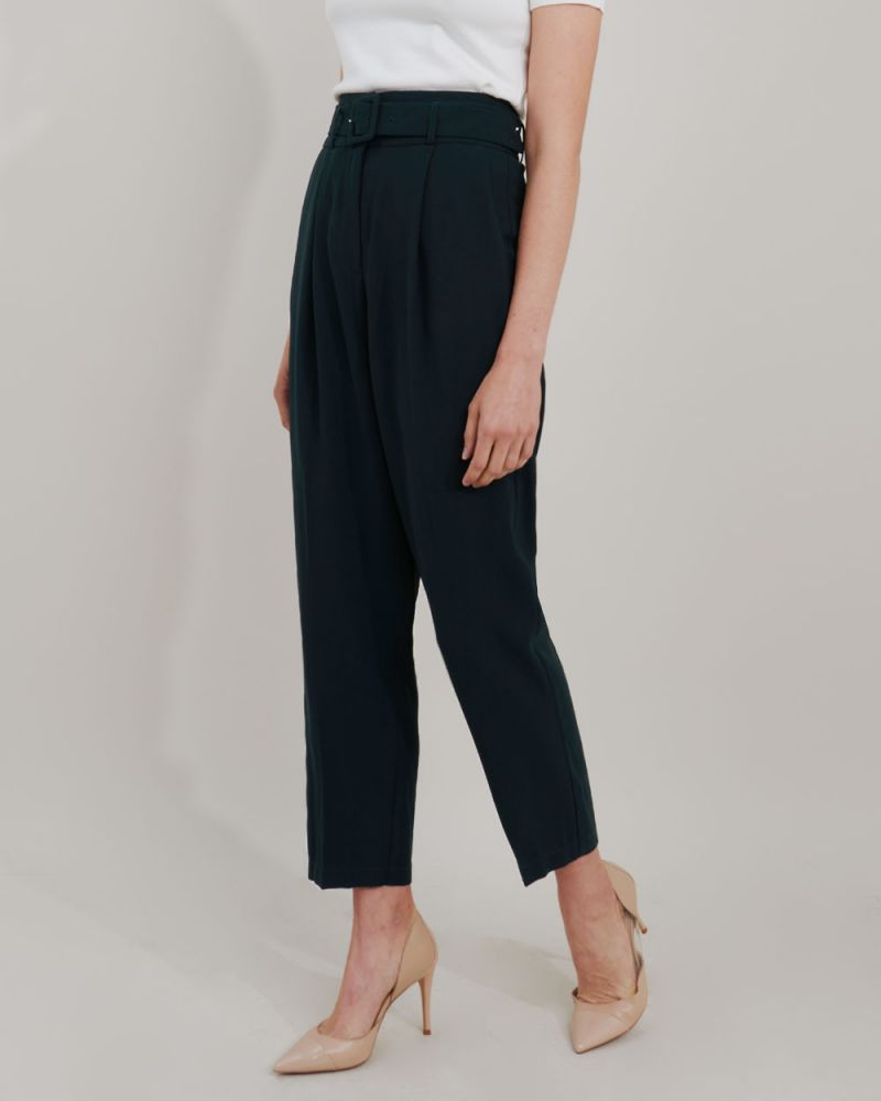 Mula High-Waist Belted Pants