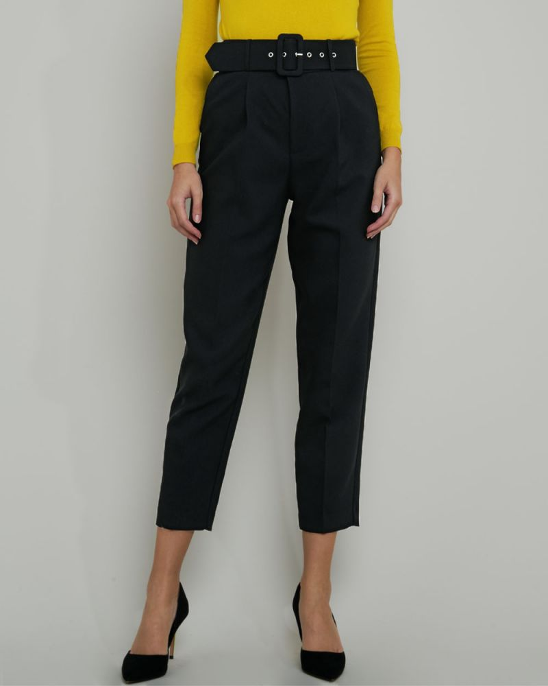 Harlee High-Waist Belted Pants
