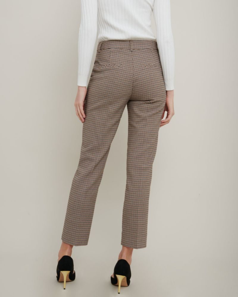 Talia Houndstooth Slim Leg Pants